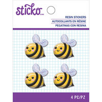 EK Success - Sticko - Resin Stickers - Bee with Glitter Accents