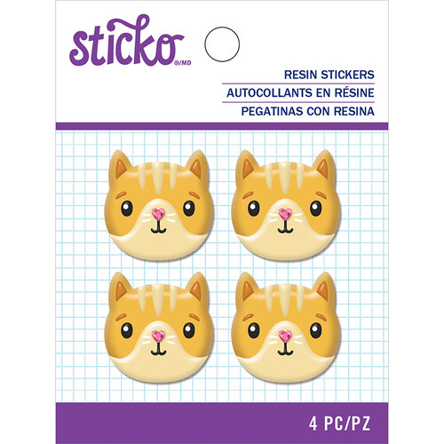 EK Success - Sticko - Resin Stickers - Cat Face