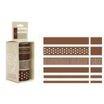 American Crafts - Elements - Multisized Premium Designer Ribbon - Brown Classics