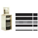 American Crafts - Elements - Multisized Premium Designer Ribbon - Black Classics, CLEARANCE