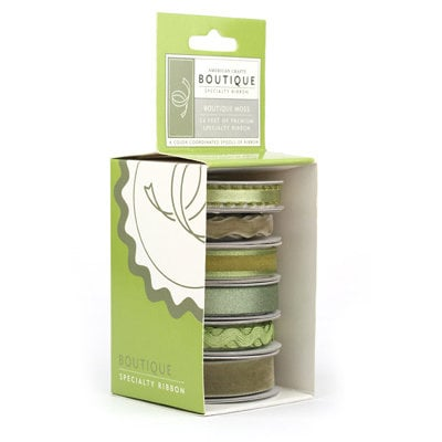 American Crafts - Specialty Ribbon - Boutique - Moss - Green