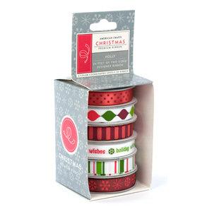 American Crafts - Boxed Ribbon - Christmas - Holly