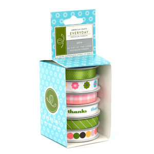 American Crafts - Boxed Ribbon - Everyday - Grin, CLEARANCE