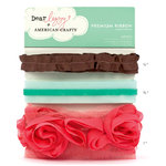 American Crafts - Dear Lizzy Spring Collection - Ribbon - Lovely, BRAND NEW