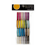 American Crafts - Ribbon Value Pack - 24 Spools - Dot Grosgrain - Color Set 1