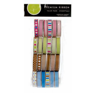 American Crafts - Ribbon Value Pack - 24 Spools - Essentials