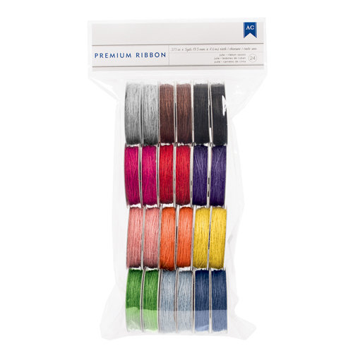 American Crafts - Ribbon Value Pack - Jute - 24 Spools