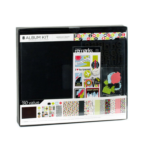 American Crafts - 12 x 12 Album Kit - Travel
