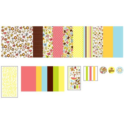 American Crafts - 12 x 12 Page Kit - Backyard