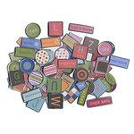 American Crafts - Metal Rimmed Tag Embellishments Kit