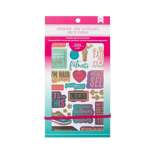 American Crafts - Sticker Book with Foil Accents - Fitness