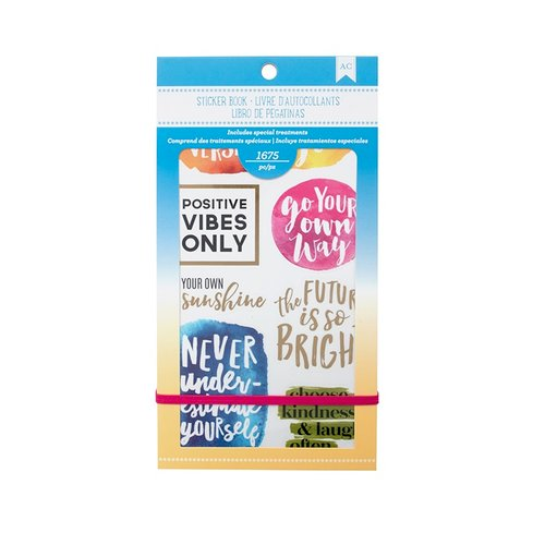 American Crafts - Sticker Book with Foil Accents - Inspirational Life