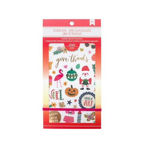 American Crafts - Sticker Book with Foil Accents - Seasonal