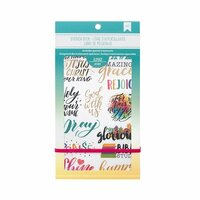 American Crafts - Sticker Book with Foil Accents - Faith