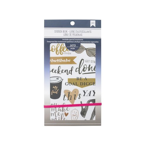 American Crafts - Sticker Book with Foil Accents - Elegant