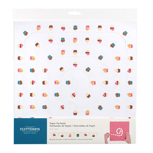 American Crafts - Flutterbys - Stitched Paper Garland - Birthday 2