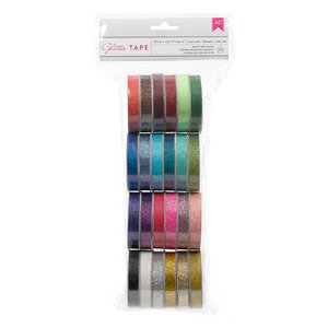 American Crafts - Value Pack - 24 Spools - Glitter Tape
