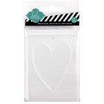 Becky Higgins - Project Life - Heidi Swapp Edition Collection - Embossing Folder - Heart