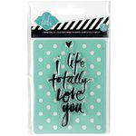 Becky Higgins - Project Life - Heidi Swapp Collection - Clear Acrylic Stamp and Stencil Set - Love You