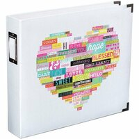 Becky Higgins - Project Life - Heidi Swapp Edition Collection - Album - 12 x 12 D-Ring - Printed White - Heart