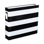 Becky Higgins - Project Life - Heidi Swapp Collection - Album - 12 x 12 D-Ring - Black and White Stripe