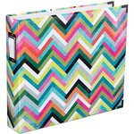 Becky Higgins - Project Life - Heidi Swapp Edition Collection - Album - 12 x 12 D-Ring - Multi Chevron