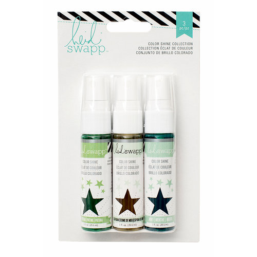 Heidi Swapp - Mixed Media Collection - Color Shine Iridescent Spritz - Set - Overcasts