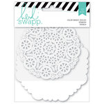 Heidi Swapp - Mixed Media Collection - Color Magic Banner Pieces - Die Cut Doilies