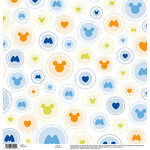 EK Success - Disney Collection - 12 x 12 Single Sided Paper with Glossy Accents - Mickey Circles