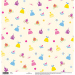 EK Success - Disney Collection - 12 x 12 Single Sided Paper with Glossy Accents - Princess Icon
