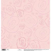 EK Success - Disney Collection - 12 x 12 Vellum with Glitter Accents - Princess Rose