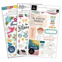 American Crafts - Care Free, Garden Party and Wonders Collections - Designer Sticker Book Bundle - 748 Pieces