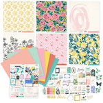 Exclusive Crate Paper - Flourish Collection - 200 Piece Papercrafting Bundle with Glitter and Foil Accents