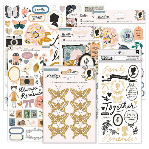 Crate Paper - Heritage Collection - Embellishment Kit