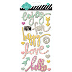 Heidi Swapp - Vintage Chic Collection - Chipboard Stickers