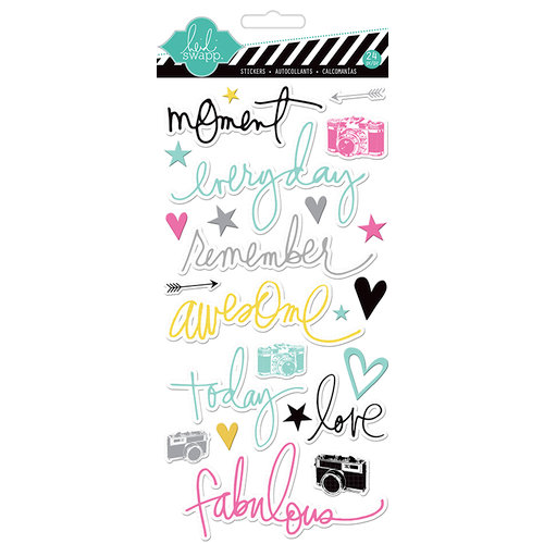 Heidi Swapp - Chipboard Stickers - Moments
