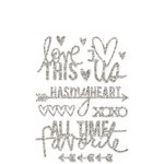 Heidi Swapp - Glitter Word Stickers - Silver - Hello Today