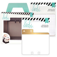 Heidi Swapp - Memorydex - Holder - Rolodex Spinner - Address Book Tabs and Patterned Cards Bundle