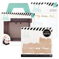 Heidi Swapp - Memorydex - Holder - Rolodex Spinner - Monthly Kraft Bundle