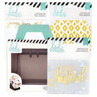 Heidi Swapp - Memorydex - Holder - Rolodex Spinner - Monthly Gold Foil Cards Bundle