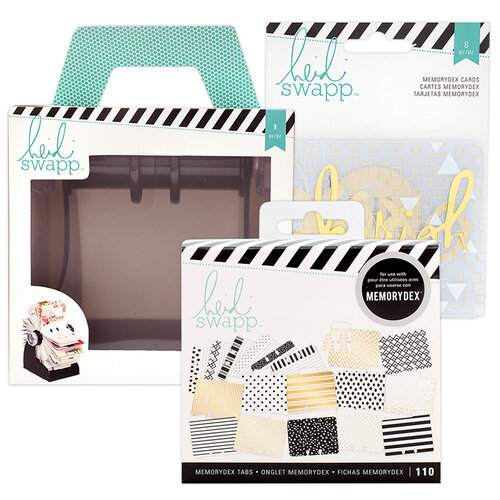 Heidi Swapp - Memorydex - Holder - Rolodex Spinner - Recipe Bundle