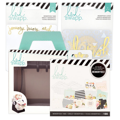 Heidi Swapp - Memorydex - Holder - Rolodex Spinner - Monthly Everyday Bundle