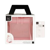 Heidi Swapp - Memorydex - Holder - Blush Rolodex Spinner and Clear Silicone Stoppers Bundle