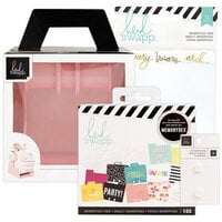 Heidi Swapp - Memorydex - Holder - Blush Rolodex Spinner - Monthly Selfie Bundle