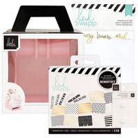 Heidi Swapp - Memorydex - Holder - Blush Rolodex Spinner - Monthly Recipe Bundle
