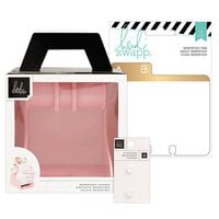 Heidi Swapp - Memorydex - Holder - Blush Rolodex Spinner - Address Book Tabs Bundle