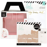 Heidi Swapp - Memorydex - Holder - Blush Rolodex Spinner - Monthly Kraft Bundle