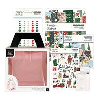 Heidi Swapp - Memorydex - Holder - Blush Rolodex Spinner - Winter Cottage Christmas Bundle