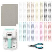 We R Memory Keepers - Mini Cinch Binding Tool - 8.5 x 11 Designer Book Board - Chipboard Bundle
