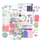 Pink Paislee - Bloom Street Collection - Ephemera and Cardstock Stickers with Iridescent Foil Accents Bundle